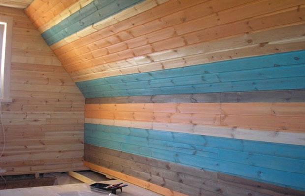 Покраска вагонки поможет избежать гниения древесины