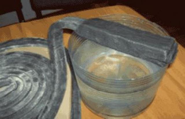 Бентонито-каучуковый шнур имеет свойство расширяться под действием влаги