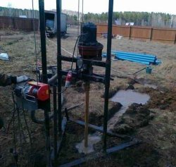 Ударно-вращательное бурение скважины на воду