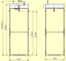 Схема деревянного душа - 2