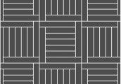 Квадрат прямой с обкладной планкой