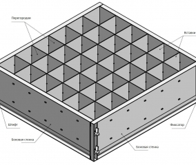 Схема-чертеж формы для пеноблоков