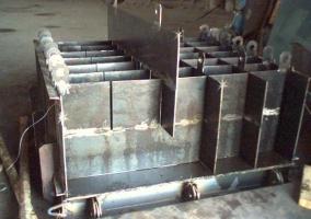 Сборка формы для производства пеноблоков