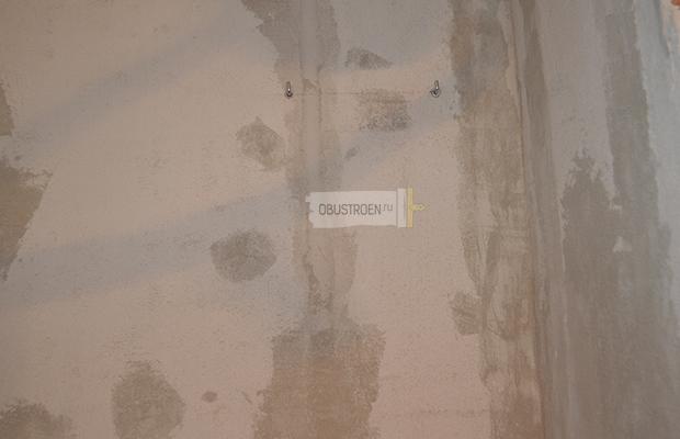 Монтаж креплений на стену