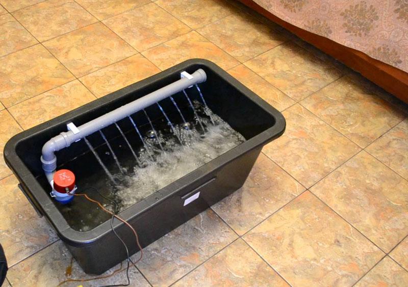 Образец самодельного очистительного устройства