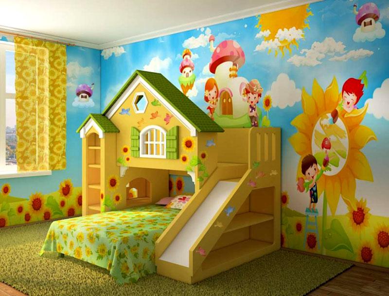 В одной конструкции совмещена игровая зона и спальное место