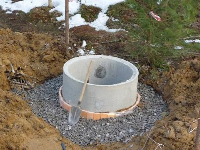 Утепленная верхняя часть колодца перед засыпкой глиняного затвора