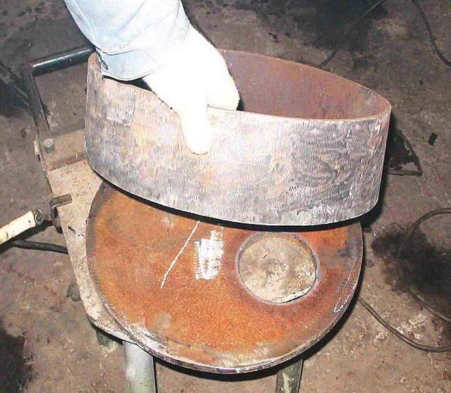 Совмещение верхней крышки со стенками цилиндра
