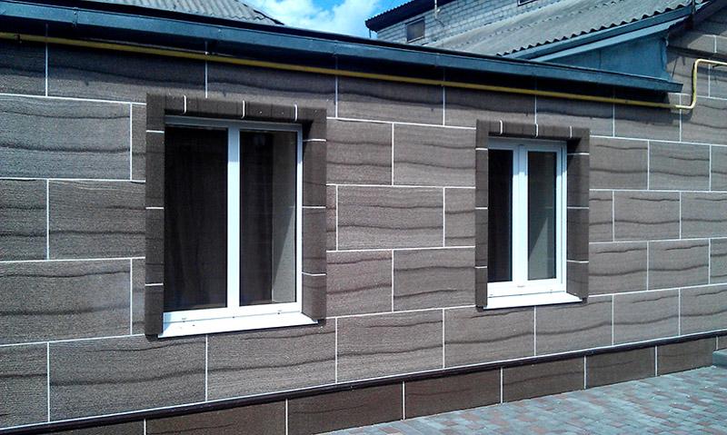 Облицовка дома металлическими панелями