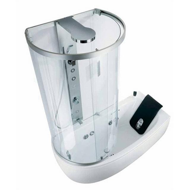 Интересная конструкция - совмещает и ванную, и душевую кабинку
