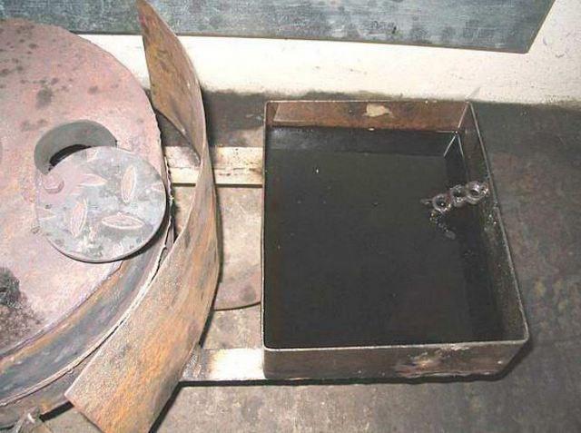 Для большей безопасности рекомендуется смонтировать защитный экран из листа металла