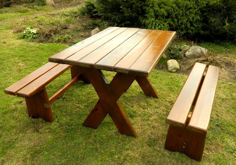 Деревянный гарнитур для отдыха