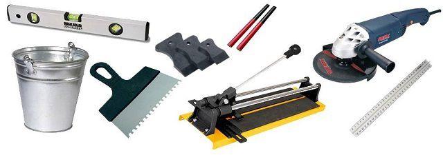 Инструменты, которые потребуются для отделки печи плиткой