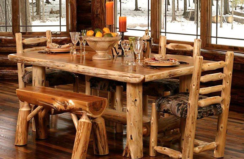 Из древесины получаются массивные предметы домашнего обихода