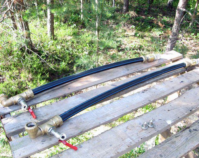 Собранные заборные участки трубопровода