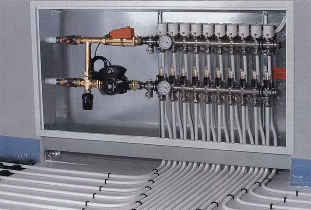 Коллекторный шкаф, установленный в нише