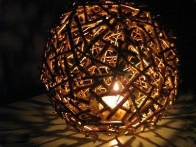 Люстра шар из дерева своими руками