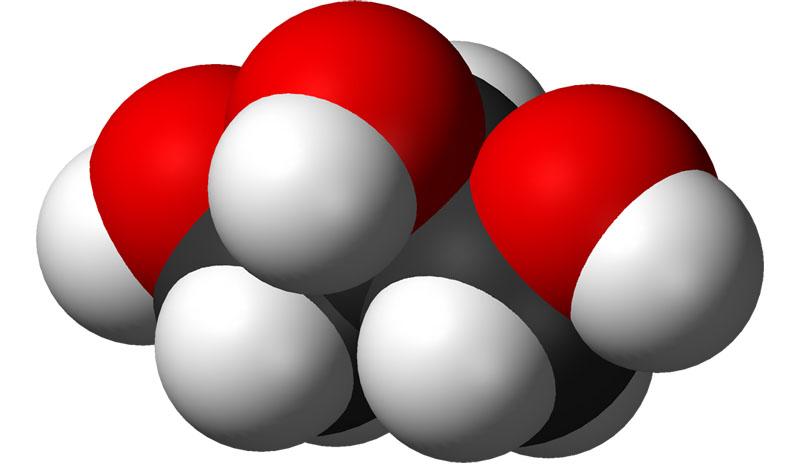 Молекула глицерина – трехатомный спирт