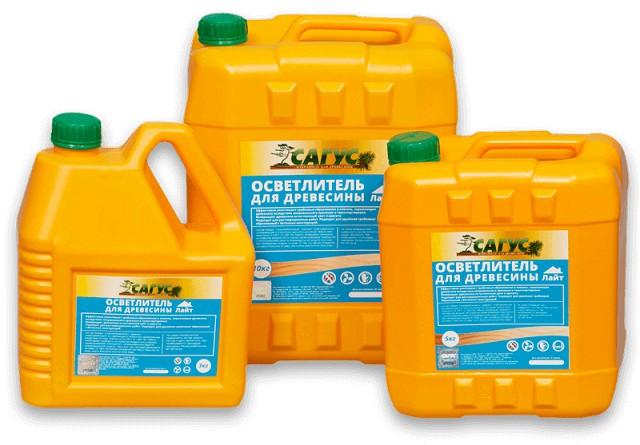 Отбеливающие пропитки «Сагус» выпускаются в нескольких вариантах. Выбор конкретного зависит от степени выявленного биологического поражения древесины.
