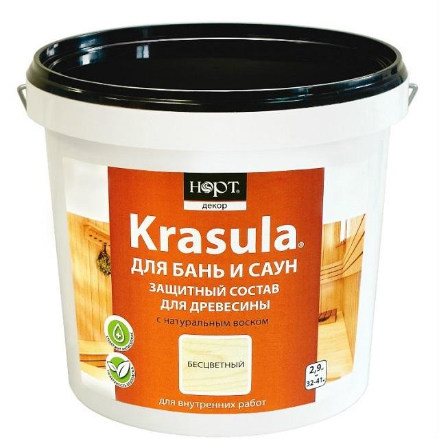 Для бань и саун требуются специфические составы. Например, хорошо справляется с функцией защиты специальное средство «KRASULA»
