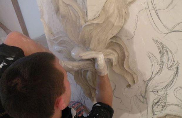 Готовим гипсовую смесь и включаем режим скульптора