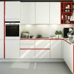 бело красная кухня