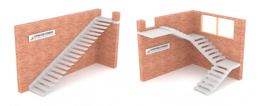 Удобная для пользования лестница может получаться слишком длинной в проекции. Значит, ее можно разделить на два или более маршей, найдя для них оптимальное расположение, чтобы экономилось пространство комнаты.