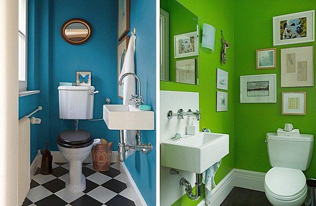 Окрашенные стены в туалете – тоже вполне интересный вариант