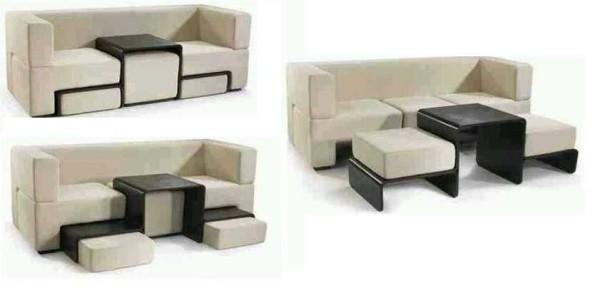 Есть очень интересные и функциональные варианты мебели. Это так называемые трансформеры - предметы, способные менять свою форму и порой даже назначение