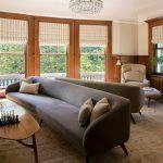 длинный серый диван