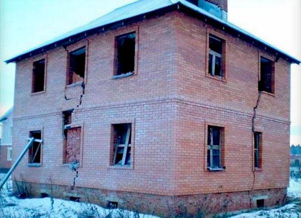 разрушение здания
