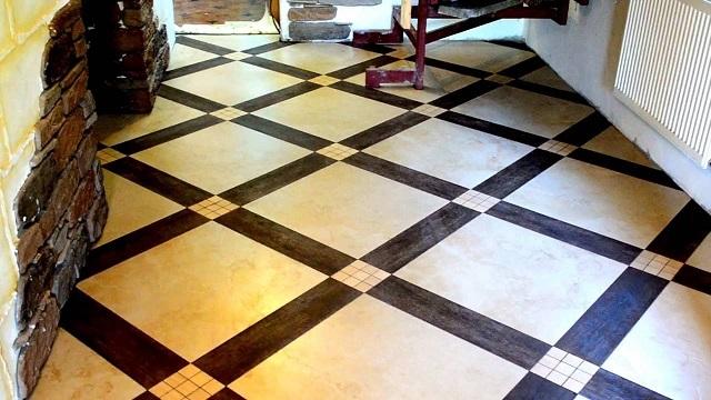 Укладка плитки по диагонали всегда сопровождается значительно большим количеством обрезков