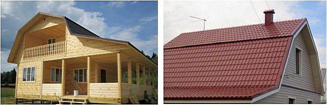 Ломаная форма скатов крыши обычно делается в угоду полезному использованию чердачного пространства
