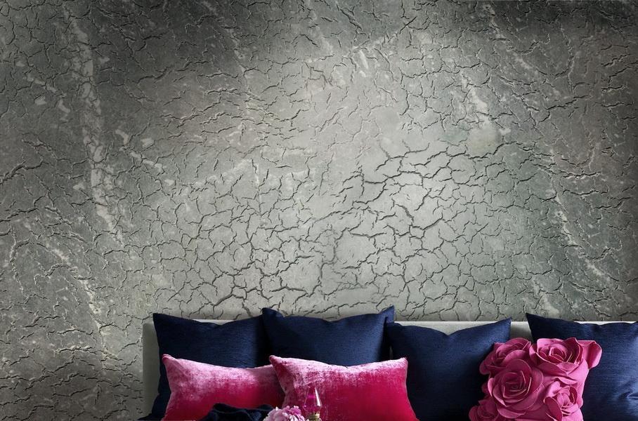 Декоративное оформление стен - создание эффекта трещин