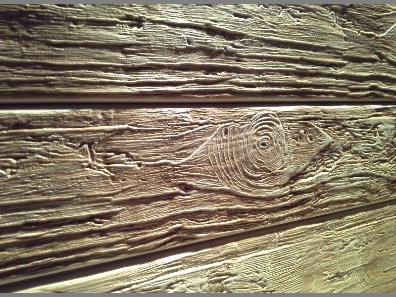 Имитация браширования древесины