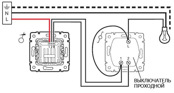 Схема подключения диммера освещения