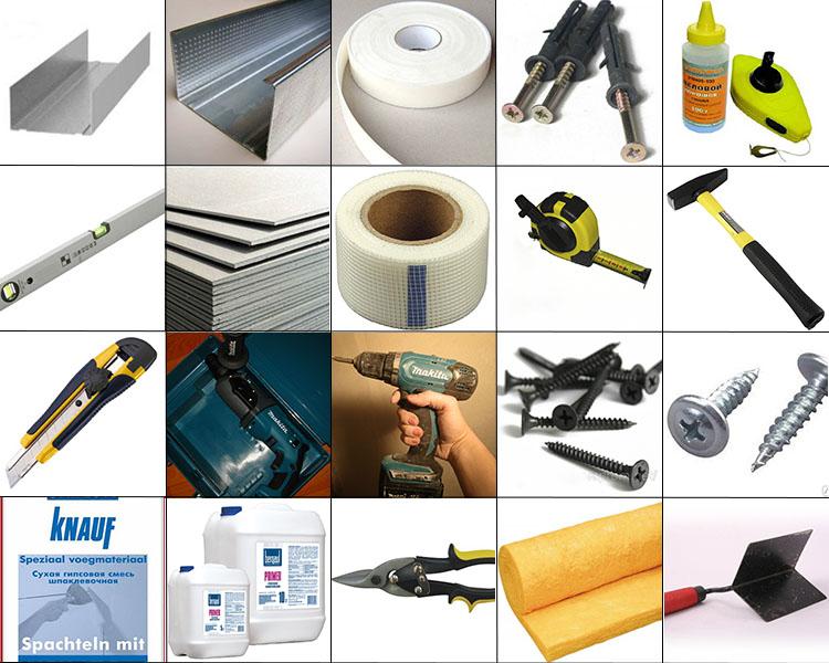 Какие материалы нужны при монтаже гипсокартонной перегородки