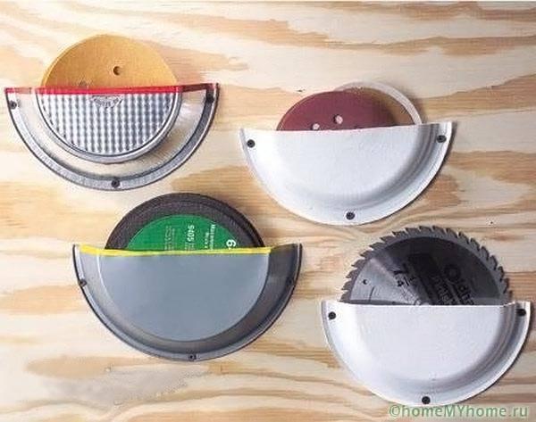 Кармашки для хранения отрезных дисков из одноразовых тарелок