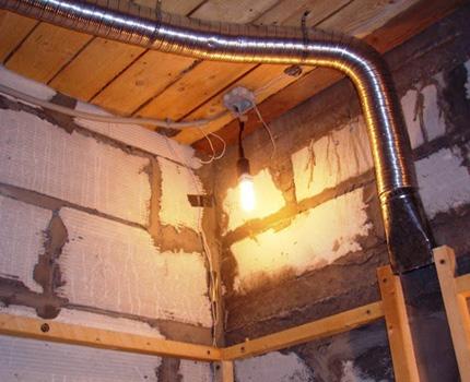 Система вентиляции в сауне