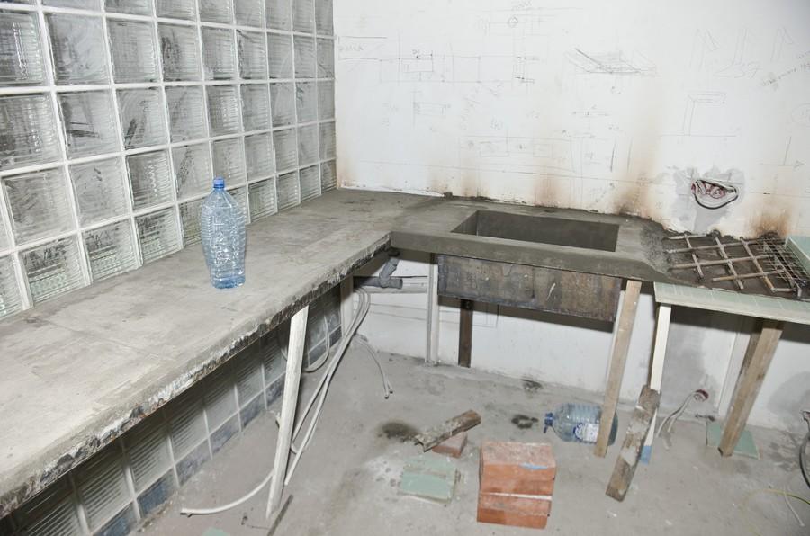 Армирование столешницы из бетона