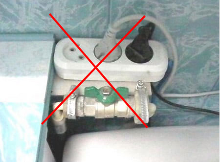 переноски запрещены в ванных комнатах и санузлах