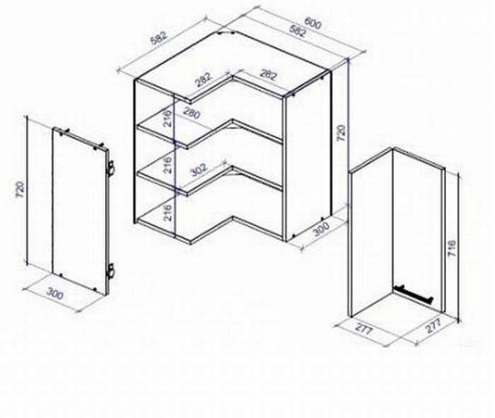 Выбор креплений и монтаж угловых шкафов
