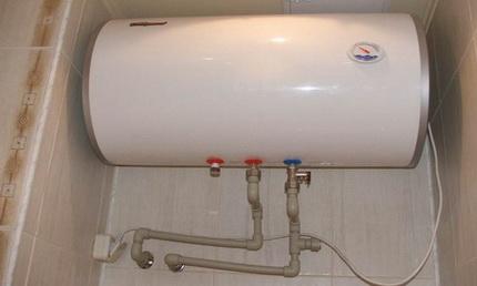Настенный горизонтальный водонагреватель