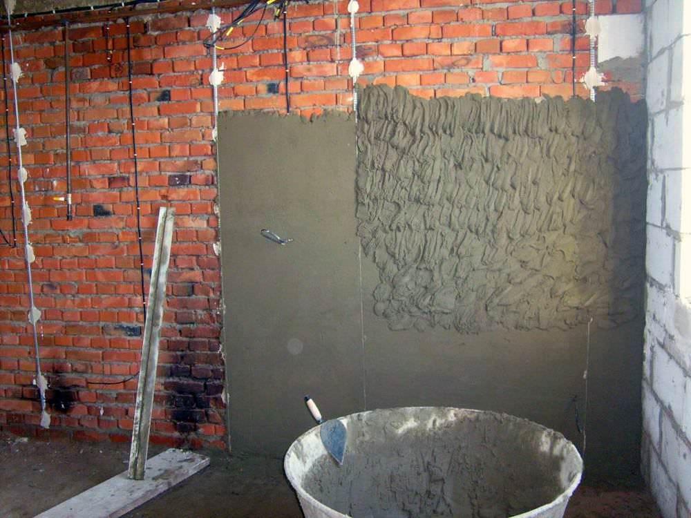 Цементная штукатурка может быть изготовлена самостоятельно