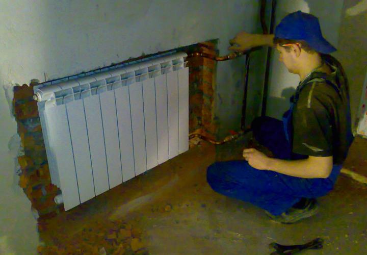 Монтируем радиаторы отопления