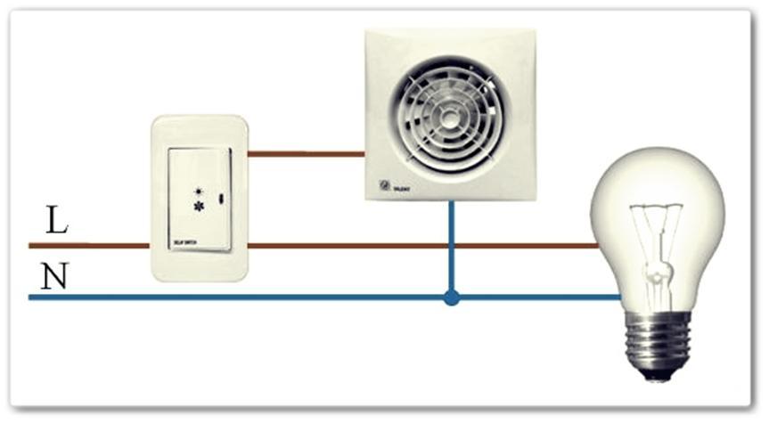 Подключение устройства к выключателю света