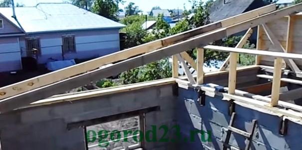 Односкатная крыша своими руками пошагово 6