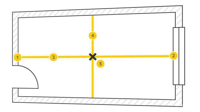 разметка площади перед укладкой