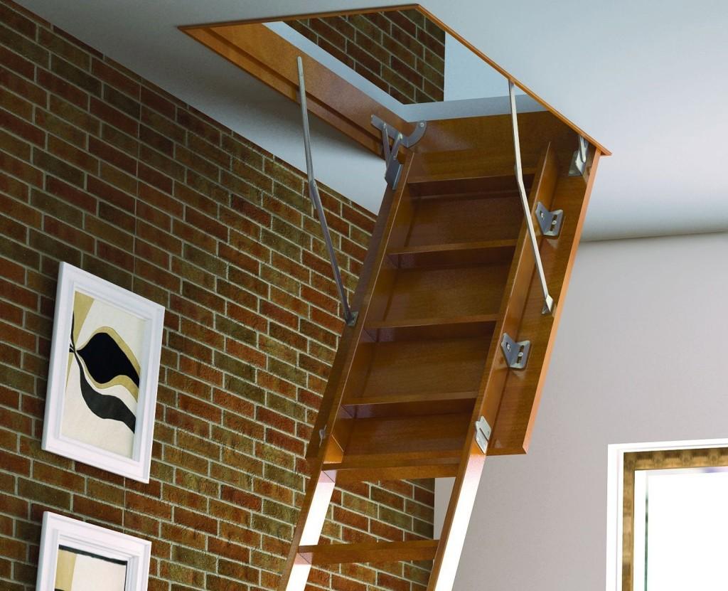Откидная лестница на второй этаж
