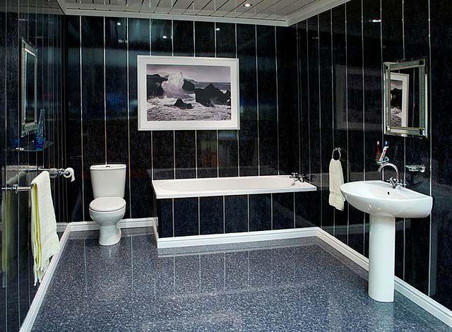 Ванная комната, отделка пластиковыми панелями